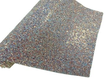 China Elastic Fabric Backing Silver Glitter Fabric Soft And Sparkle Material factory
