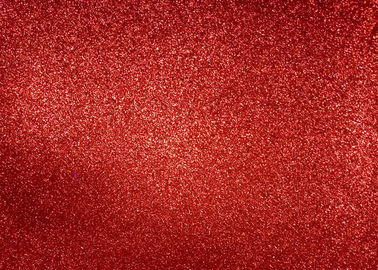China Magenta Red Glitter Fabric For Dresses , Cold Resistance Shiny Glitter Fabric distributor