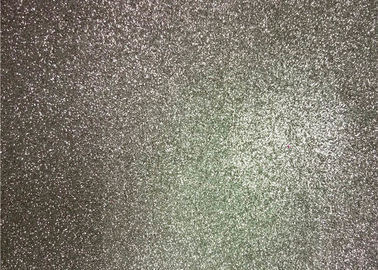 China Bedroom Wallpaper PU Material Silver Glitter Fabric For Living Room Home Decor distributor