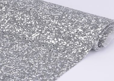 "China 54"" Width Silver Glitter Cotton Fabric For Making Shoes Material And Wall Covering distributor"