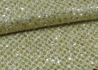 China Foil Plain Polyester Glitter Stretch Mesh Fabric For Making Shoes Bags Wall Paper distributor