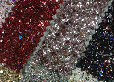 China Lurex Metallic Waterproof Glitter Cotton Fabric 1.38m Width For Fashion Garment distributor