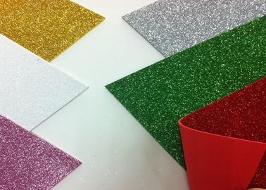 China Solid Color Adhesive Glitter EVA Foam Sheet High Density For Handcraft And Decoration distributor