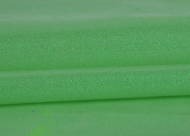 China Plain Green Glitter Fabric For Dresses , Pvc Finished Thick Glitter Fabric factory