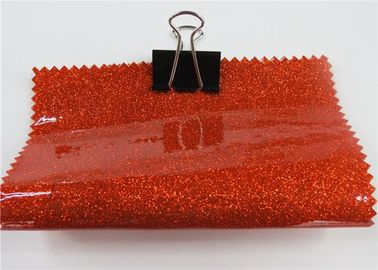 "China 54"" Width High Sparkle Glitter Pvc Fabric 0.17mm For Bags And Furniture distributor"