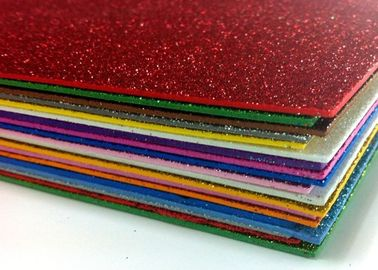 China 2mm A4 Hot Melt Adhesive Glitter EVA Foam Sheet For EVA Products distributor