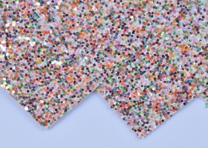 "Folk Art 12*12"" Chunky Glitter Paper 0.8mm Thickness For Making Hair Bows"