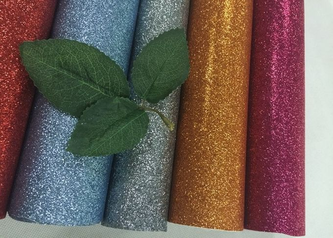Personalized Pu Glitter Material Fabric 50meters One Roll For Bags Decor